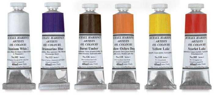 Now Stocking Michael Harding Oil Paints